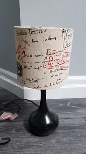 Paris style table lamp and matching curtains