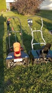 2 Electric Snow Blowers