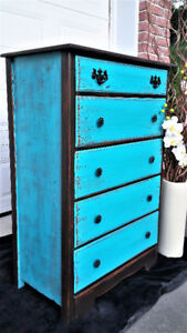 Wood dresser, shabby chic