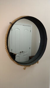 MOVING! - Iron & Rope Framed Mirror