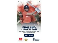 T20 tickets England vs Pakistan 4 TICKETS LEFT ONLY