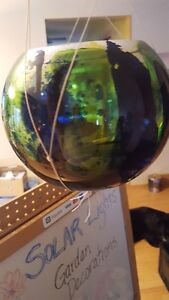Hand painted solar light globes