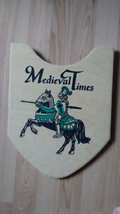 Medieval Times knight's shield