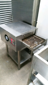 Electric belt pizza oven