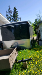 8x22 enclosed trailer with side door and back ramp door
