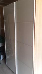 Ikea pax wardrobe white glass doors