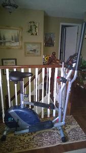 Elliptical/upright bike