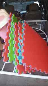 Foam floor interlocking squares. 8 Peterborough Peterborough Area image 2