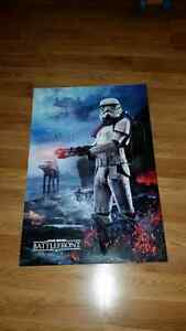 Special Star Wars Battlefront Prerelease Poster (double sided!)