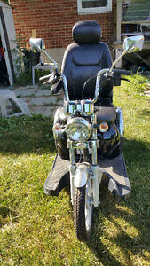 like new sport rider scooter with trailer