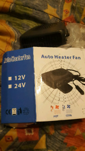 12/24 volt car heater with fan.
