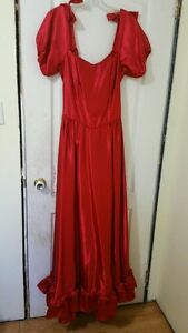 1980's Red Prom Dress