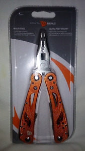 Multi-Tool with LED light and 7 stainless steel tools
