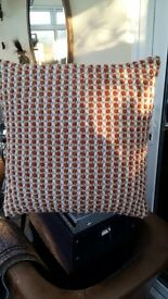 "4 X NEXT CUSHION INNERS & COVERS 18"" x 18"" PERFECT CONDITION"