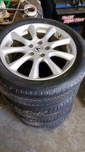 215 50 17 Michelin Primacy on Acura TSX Honda Accord alloysTPMS