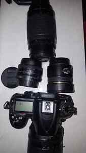 USED NIKON CAMERA WITH ATTACHMENTS