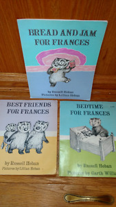 3 Frances picture books by Russell and Lillian Hoban