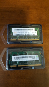 DELL Laptop Memory 2 x 1GB PC2 6400 DDR2 800