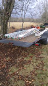 """Flat deck tilt trailer 18' x 6'8"""""""