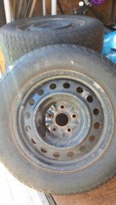 """REDUCED!!!  16"""" rims and snow tires"""
