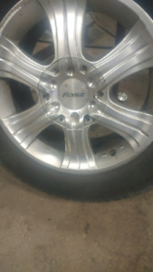 "17"" rims and tires $250 obo"