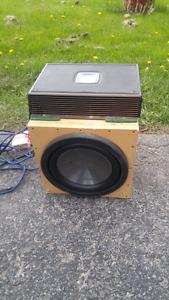Clarion amp sub and box car audio