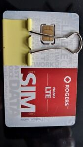 Brand New Unused Never-Activated Rogers Wireless Nano SIM cards