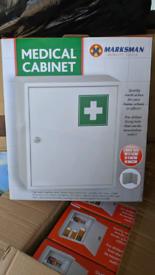 Lockable medicine cabinets