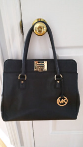 MK Genuine  Michael Kors Black Leather Purse