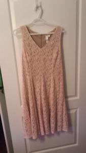 Pink lace dress size 12
