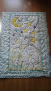 I LOVE YOU TO THE MOON AND BACK,  BABY CRIB QUILT