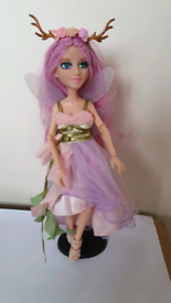 fairy doll Ember Evergreens Fairies Wings Antlers pink hair big rooted