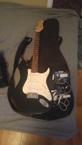Electric guitar and a amplifier