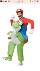 Adult Mario riding inflatable costume - Brand new
