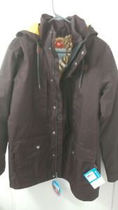 COLUMBIA HORIZONS Interchange Winter Jacket Mens SMALL NEW TAGS
