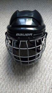 "Bauer ""2100 Series"" Hockey Helmet with Cage (Size: Medium)"
