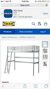 brand new double loft bed in white