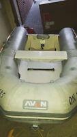 2.9 RIB Avon Inflatable Boat Dingy w/ Fiberglass Hull