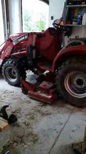 "Compact Case-IH Loader Tractor with 60"" Mid-mower"