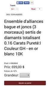 alliance Or Blanc 10K Gatineau Ottawa / Gatineau Area image 2
