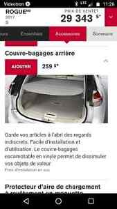 Cache bagage nissan rogue 2014-17