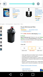 MUST GO .......FLUVAL 206 FILTER FOR AQUARIUM