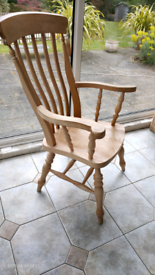 2 X lovely pine chairs £90 for 2 or £50 for 1.
