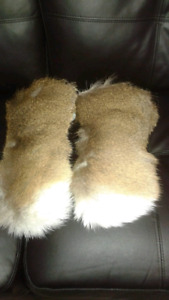 Hand made leather mitts