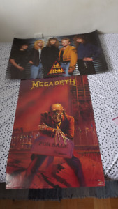 "MEGADETH BAND SCARY POSTER 1986/""PEACE SELLS BUT WHOS BUYING"""