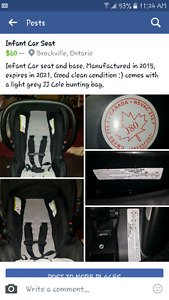 Car seat; base and cover.