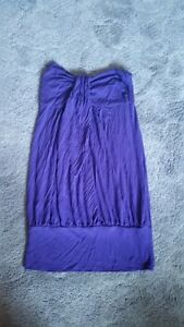 Purple Strapless Dress