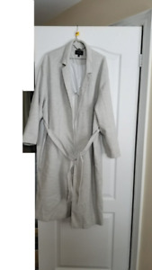 Beautiful Marks & Spencer Light Grey Wrap Coat