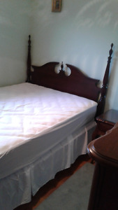Mahogany 4 poster pediment double bed for sale