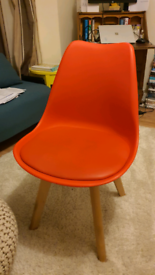 Habitat cushioned lounge chair with plastic mould.